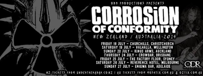 Corrosion of Conformity Australia/New Zealand Tour
