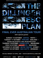 The Dillinger Escape Plan – Final Ever Australian Tour: Brisbane