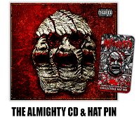 Axe – The Almighty CD/Hat Pin Combo at MNA